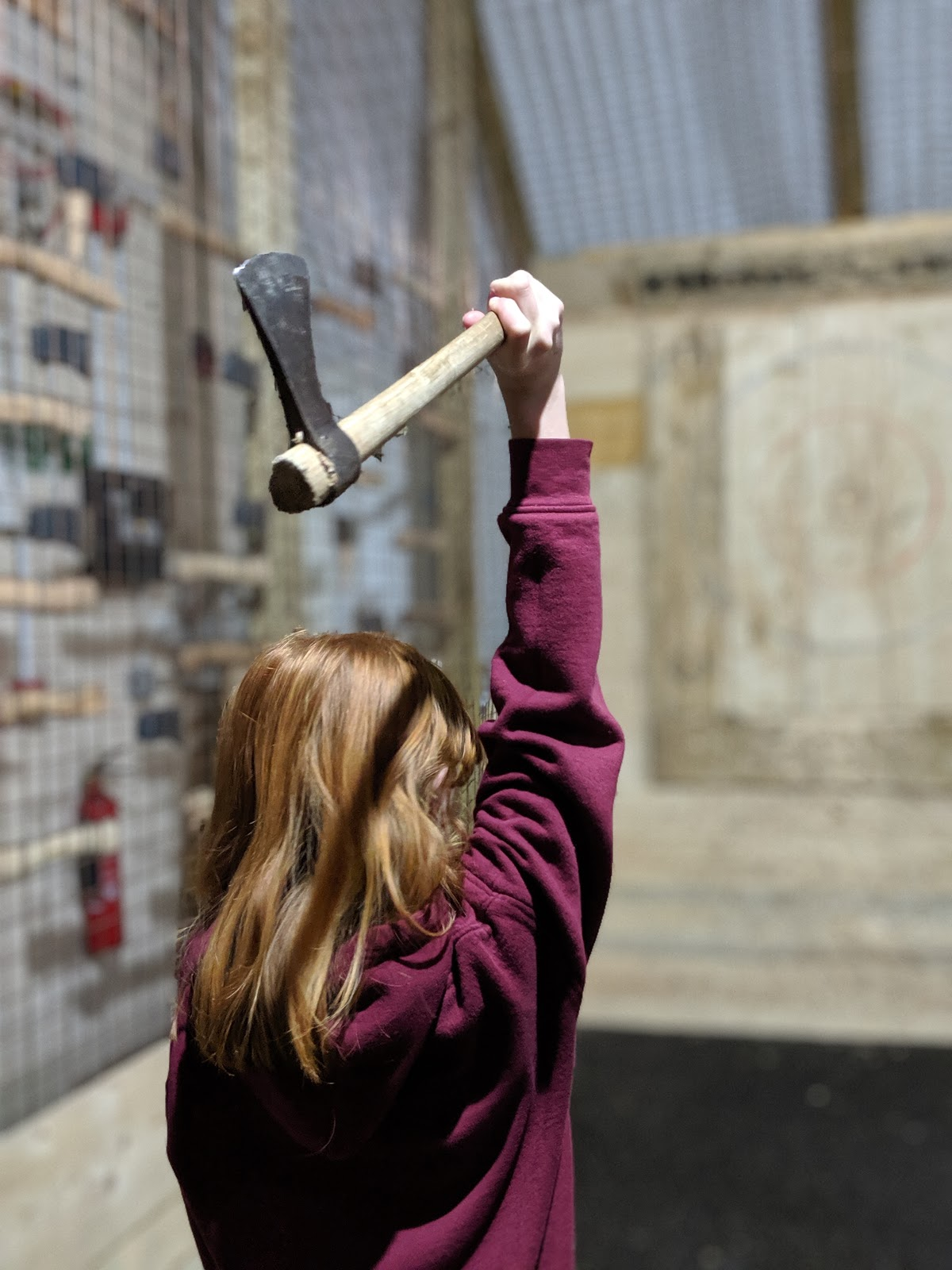 Indoor Axe Throwing in Newcastle at Hatchet Harry's  (Review) - girls who throw