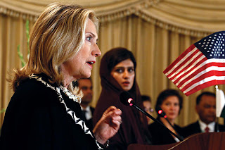 Hillary Clinton and Hina Rabbani Khar