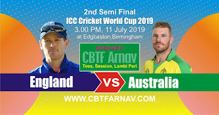 2nd Semi Final Match Australia vs England ICC Cricket World Cup 2019 Today Match Prediction