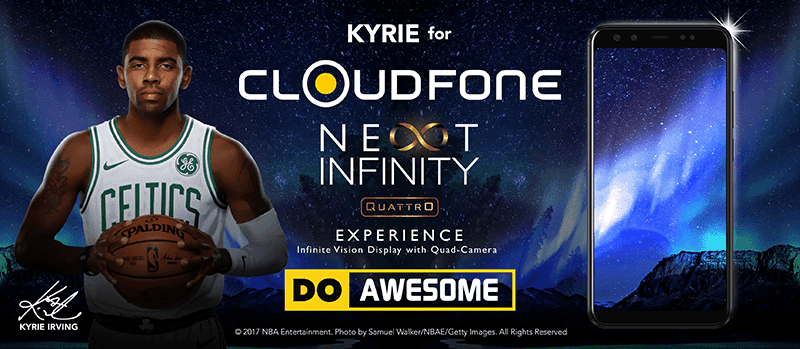 Kyrie Irving is the newest face of Cloudfone!
