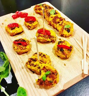 image Bouchées de patate douce, thon et fromage frais