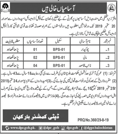 Jobs for local domicile of district barkhan