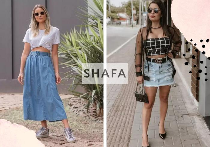Saia Jeans: 8 looks para amar - SHAFA