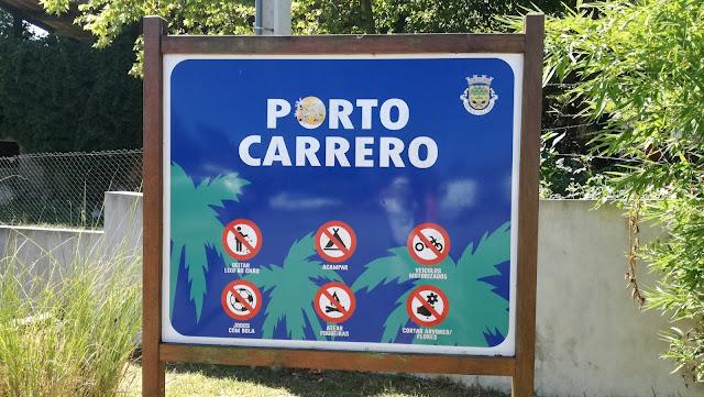 Placa Praia Porto Carrero