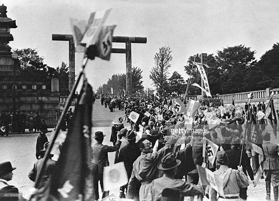 13 October 1940 worldwartwo.filminspector.com Yasukuni Shrine Tokyo Tripartite Pact