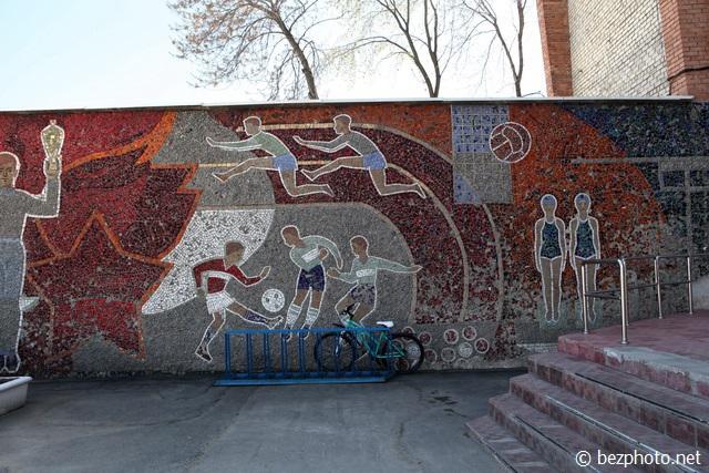 советская мозаика на зданиях