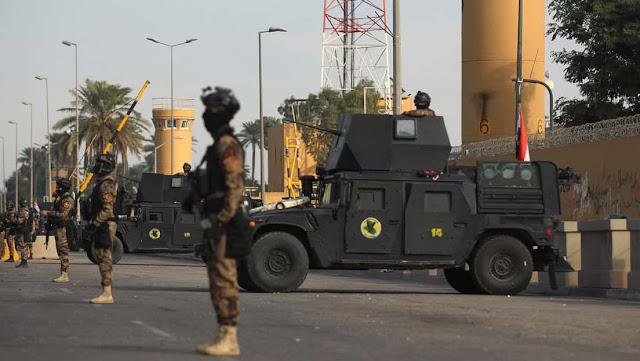 Fierte presencia militar frente a embajada de EEUU en Irak