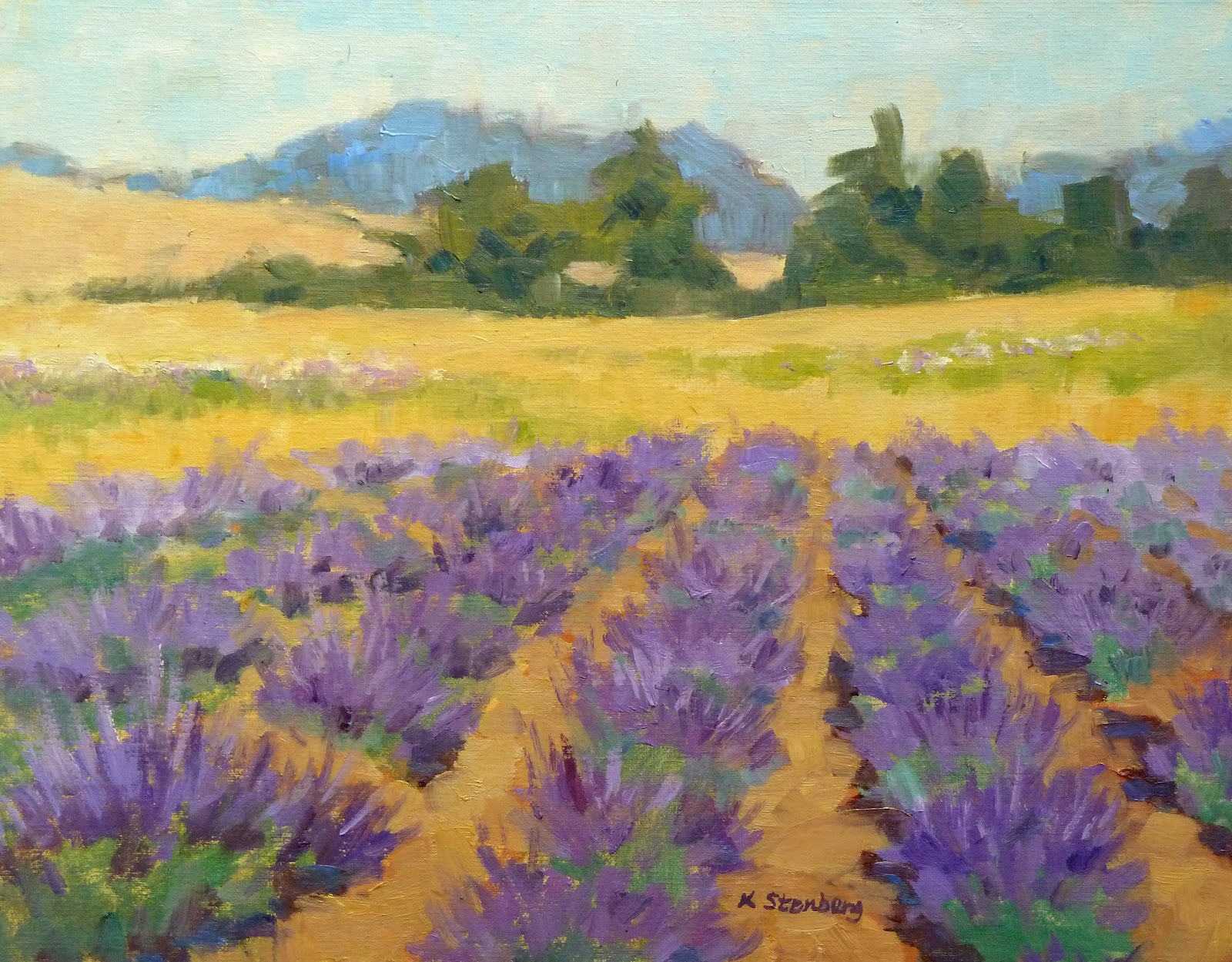 lavender painting - photo #28