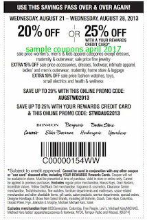 free Carson Pirie Scott coupons for april 2017