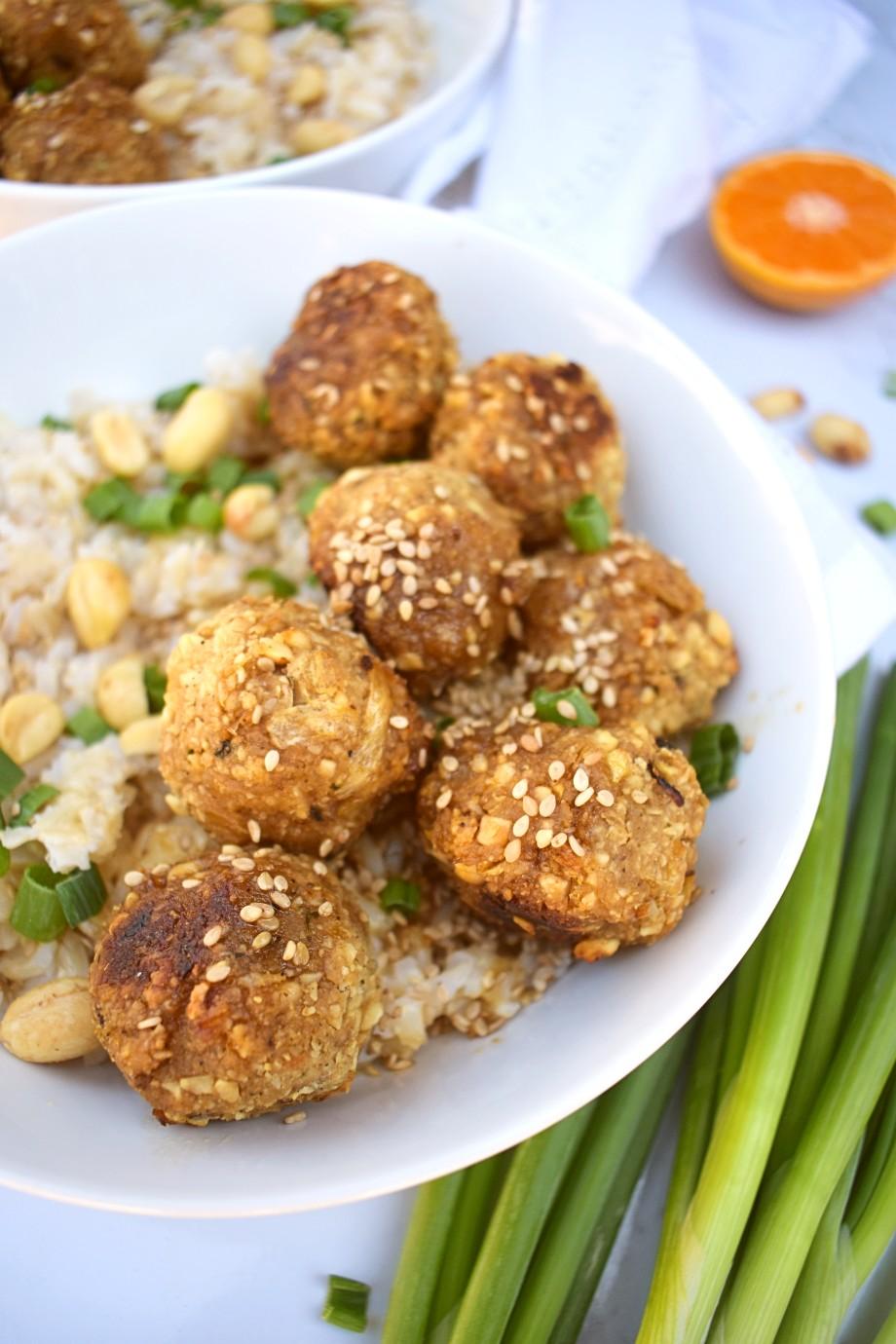 Sesame Peanut Meatballs