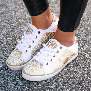 metallic leopard sneakers from marleylilly.com