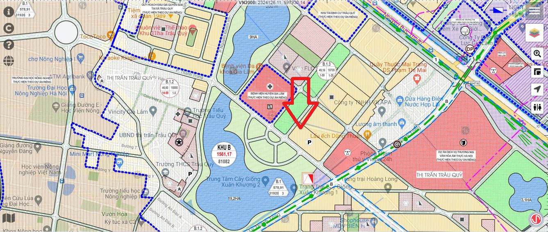 Vị trí trên bản đồ quy hoạch của Eurowindow Twin Parks.