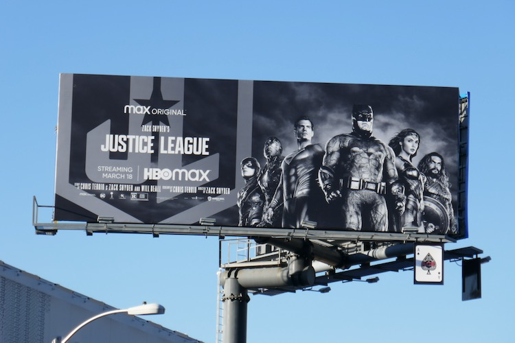 Zack Snyders Justice League movie billboard