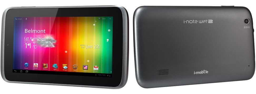 i-mobile i-note WiFi 2 Tablet