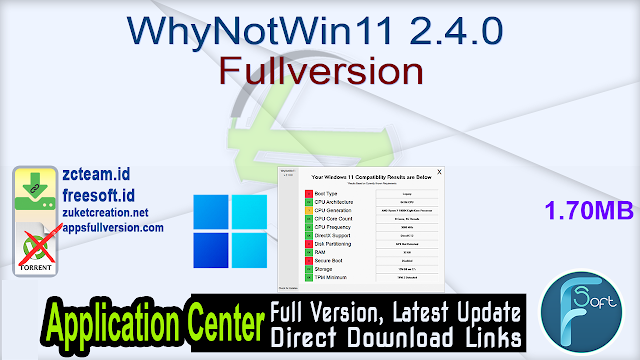 WhyNotWin11 2.4.0 Fullversion