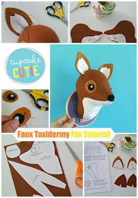 Faux Taxidermy Fox stitch-a-long: Part 1