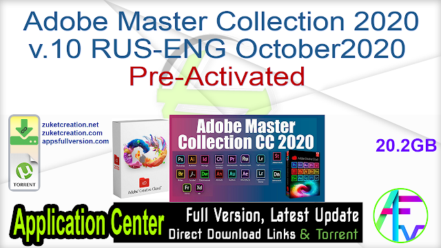Adobe Master Collection 2020 v.10 RUS-ENG Pre-Activated October2020