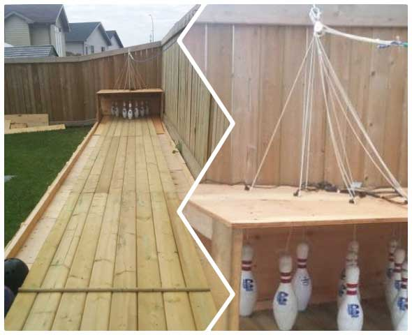 Bolera o bowling construye una en tu jardin y juega sin fin