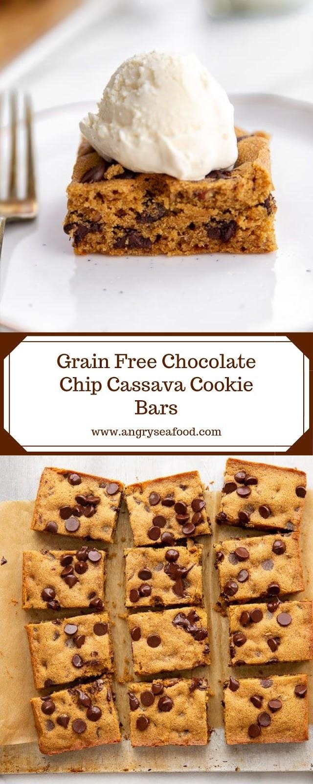 Grain Free Chocolate Chip Cassava Cookie Bars