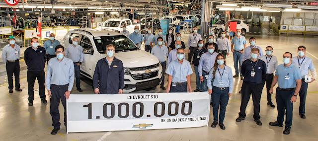 Chevrolet S10 completa 25 anos com 1 milhão de unidades produzidas