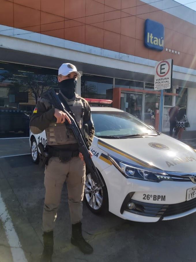Brigada Militar realiza ações de patrulhamento na área bancária de Cachoeirinha