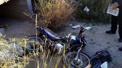 Moto, accidente, acequia, Beceite, Beseit, Matarraña, Matarranya