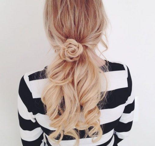Kiểu tóc nữ đẹp – búi xoắn thanh lịch