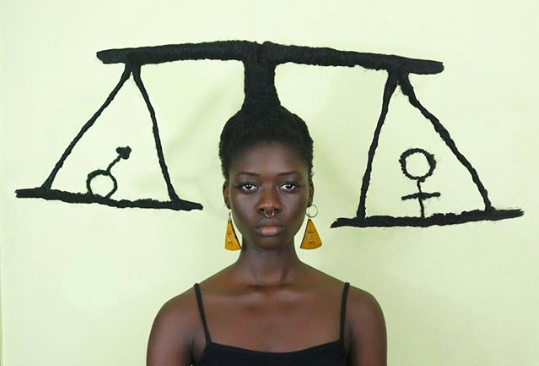 Ivorian Artist Laetitia Ky Transforms Hair Into Artwork While Addressing Social Issues