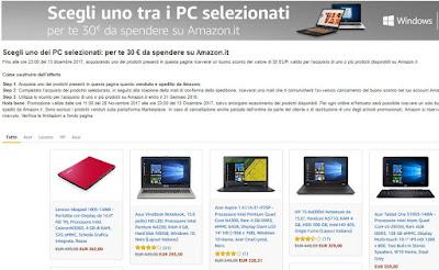 Amazon offerte trucchi e consigli per risparmiare e per for Pc in regalo gratis