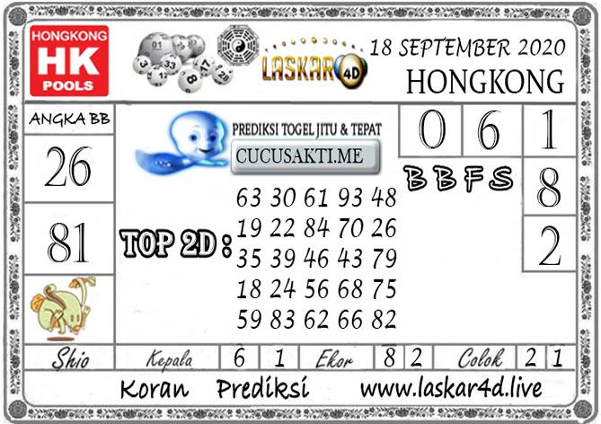 Prediksi Togel HONGKONG LASKAR4D 18 SEPTEMBER 2020