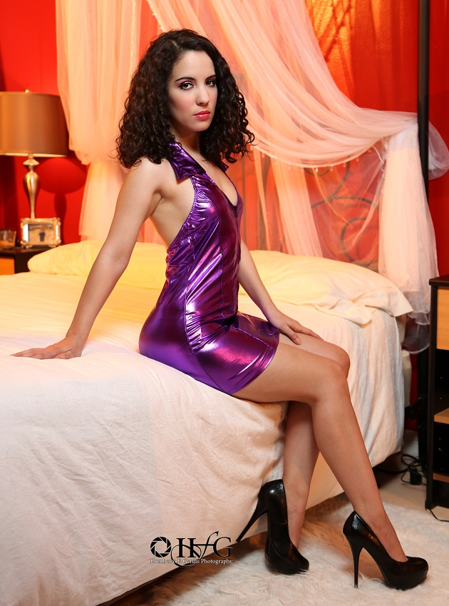 Purple Pleather Dress