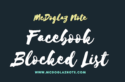 How To See Your Blocked List On Facebook
