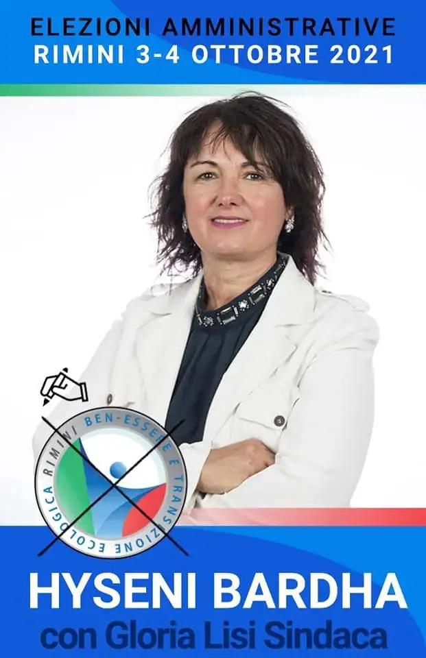 Candidata albanese Bardha Hyseni per il Consiglio Comunale di Rimini