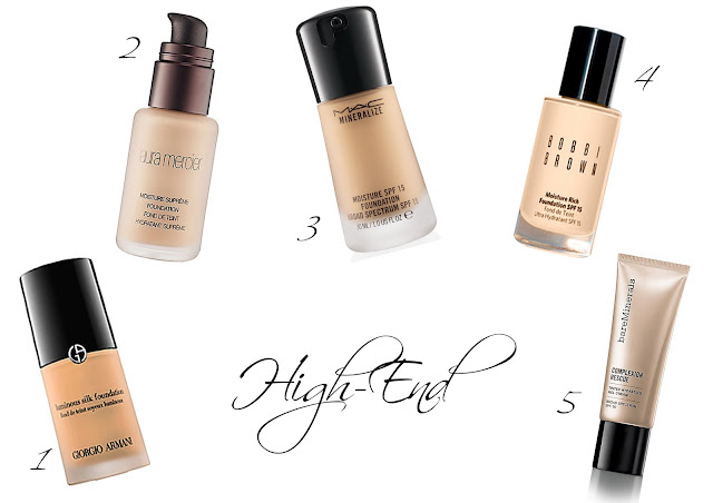 teure High-End Parfümerie Foundations für trockene Haut