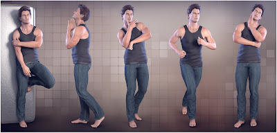 Z Masculine Appeal - Poses for the Genesis 3 Male