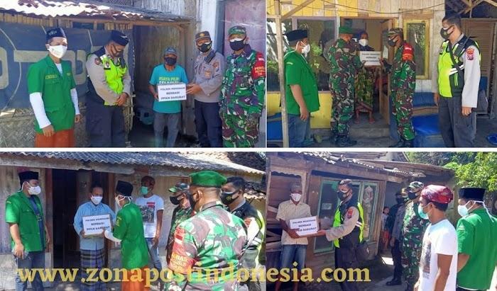 Sinergitas 3 Pilar dan GP. Ansor Kecamatan Wonosari, Berbagi Sembako Kepada Warga Yang Terdampak PPKM Darurat