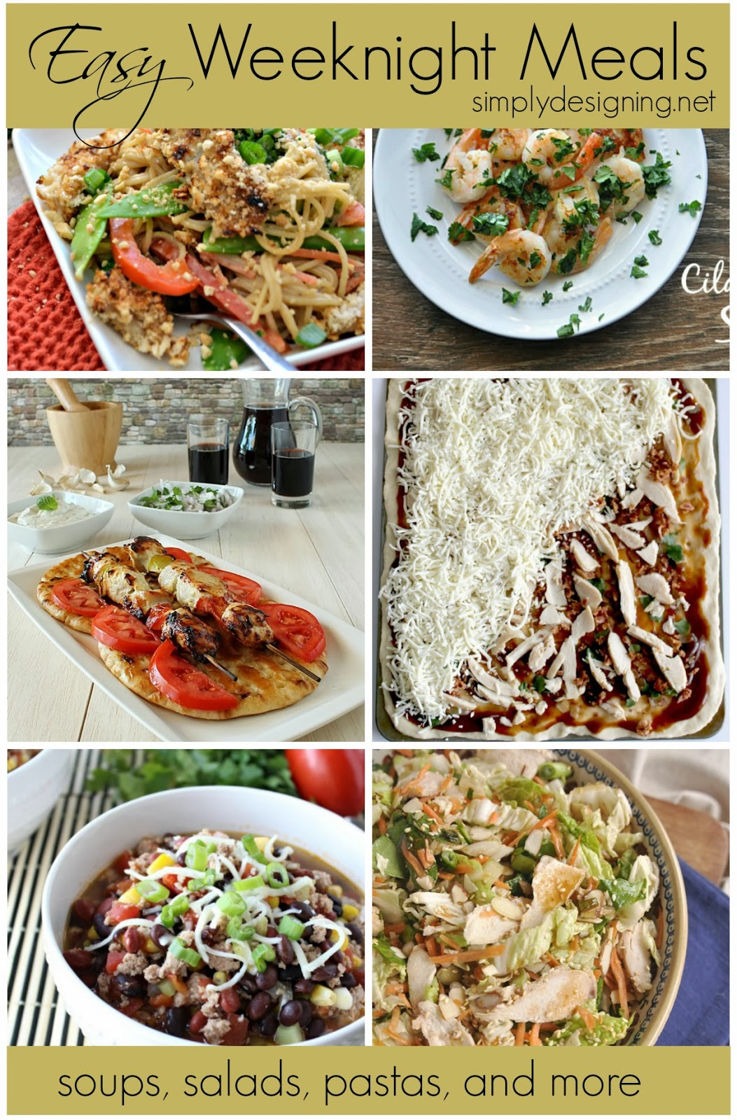 15 Easy Weeknight Meals | #recipes #dinner #dinnerideas