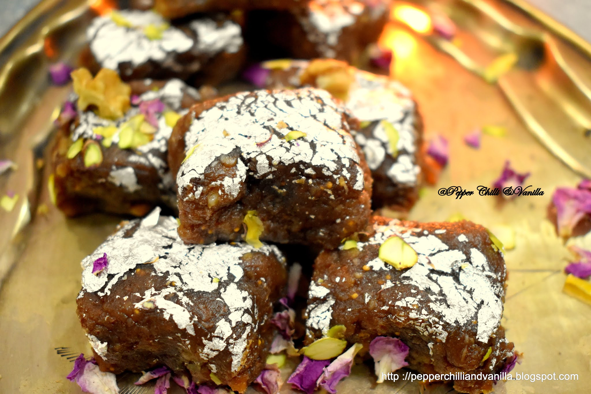 walnut almond burfi recipe