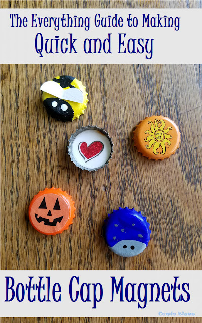 5 recycled bottle cap refrigerator magnet craft ideas for kids