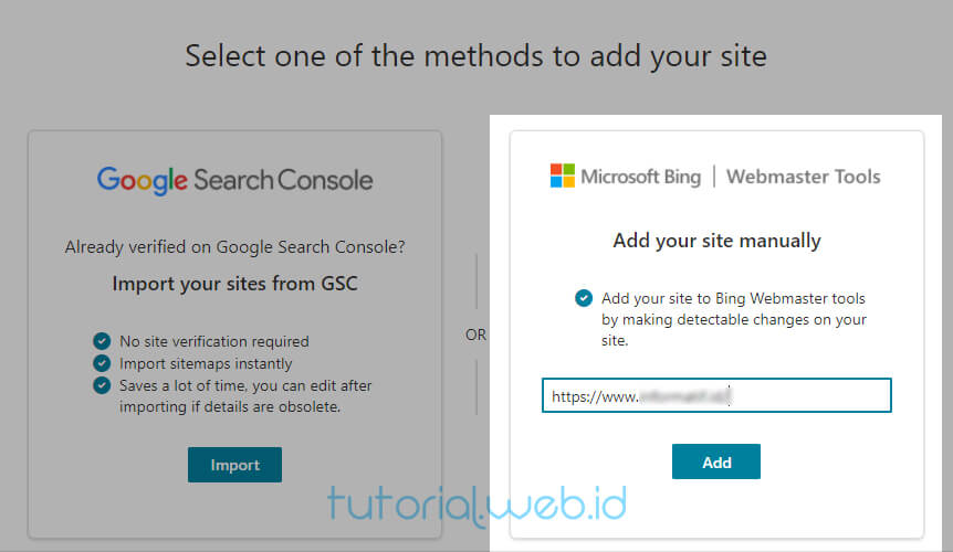 Cara Submit Blog Ke Bing 5 Pilih Add your site manually