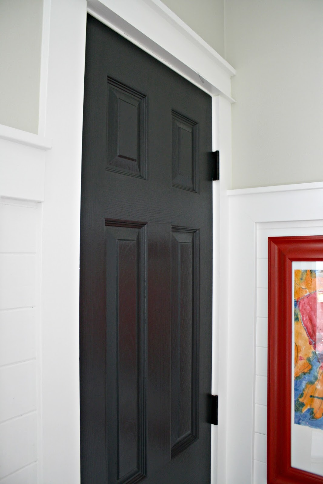 Another door goes black and how to do it from thrifty decor chick - Sophisticated black interior doors ...