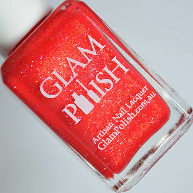 hot red shimmer nail polish