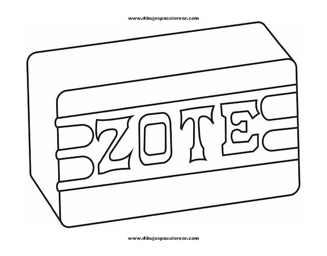 Dibujos para Colorear: Jabón Zote