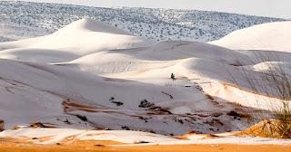 Η έρημος Σαχάρα καλύφθηκε με χιόνι τρίτη φορά μετά από 40 χρόνια
