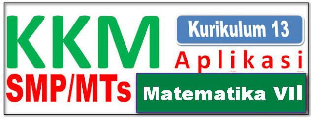 KKM APLIKASI SMP/MTs KELAS VII MAPEL MATEMATIKA KURIKULUM 2013