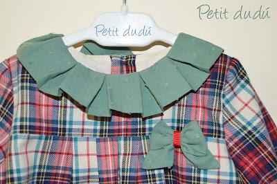 Vestido de Cuadro escoces para niña Petitdudu