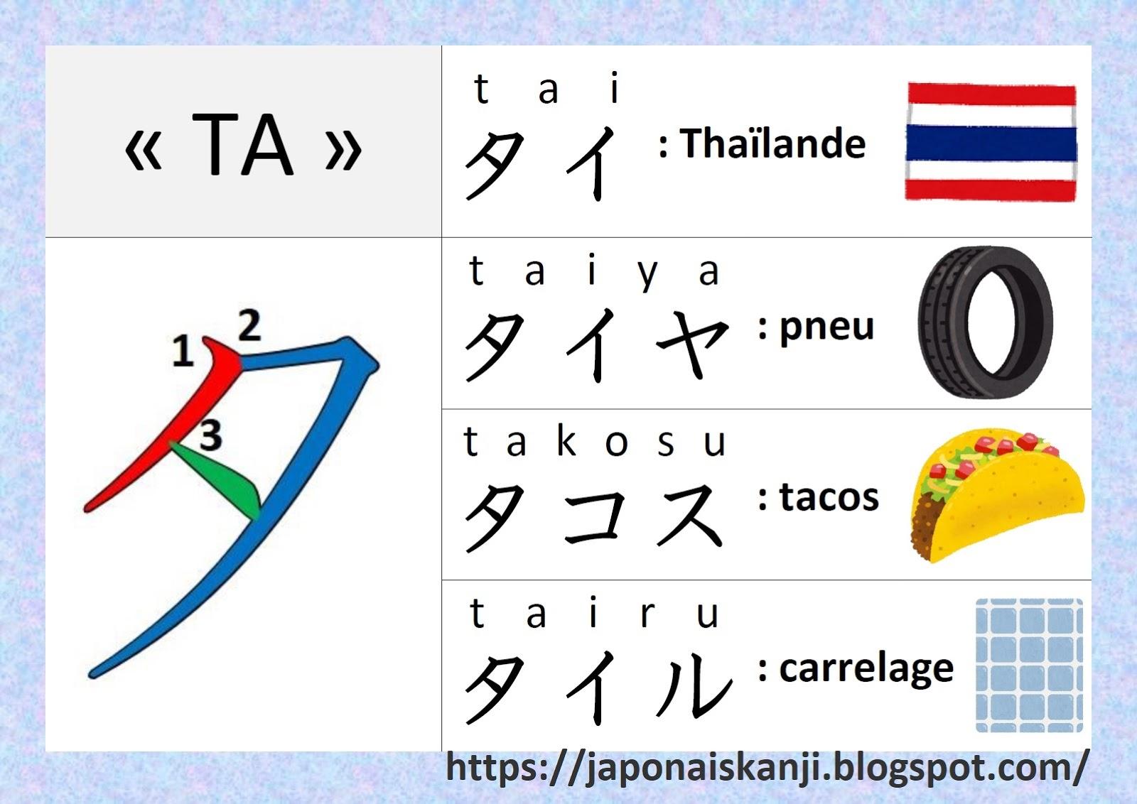 Japonais Kanji Ɨ¥æœ¬èªž Ƽ¢å— Katakana Â¿ Ta
