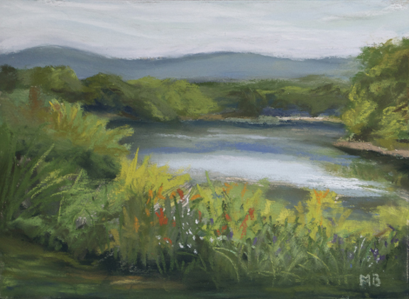 July Along The River, 5x7 inches, En Plein Air