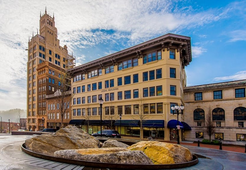 Asheville, NC is home to the 2nd largest number of Art Deco buildings in the nation. The historic Legal Building traces its roots back to 1909, when downtown Asheville was entering its building heyday.