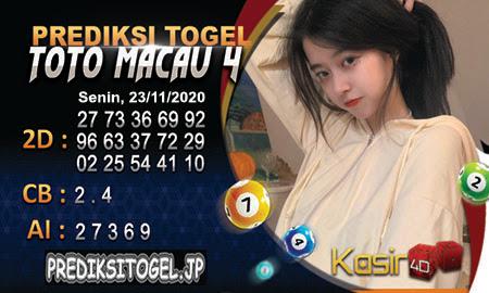 Prediksi Kasir4D Togel Macau Senin 23 November 2020
